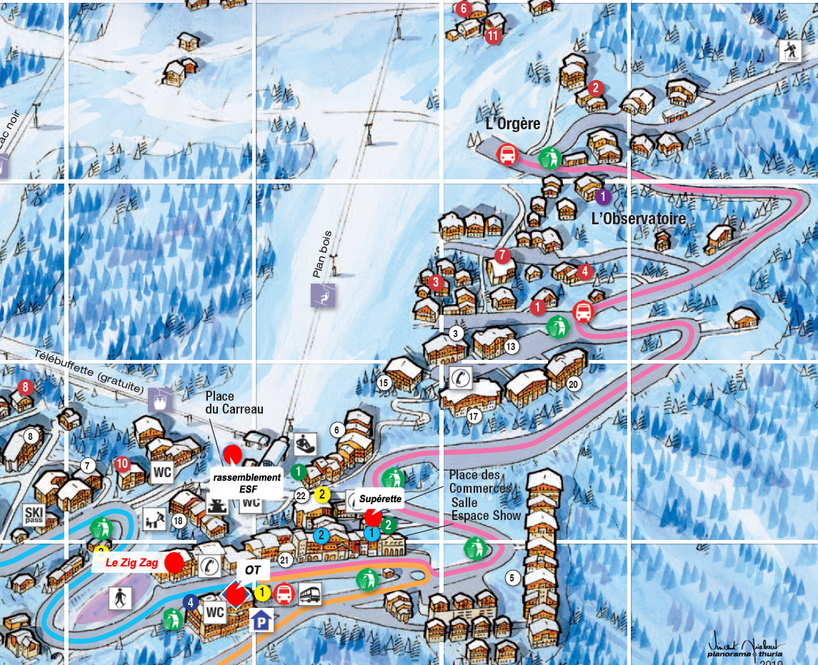 Zig zag la plagne les coches for Country plans com
