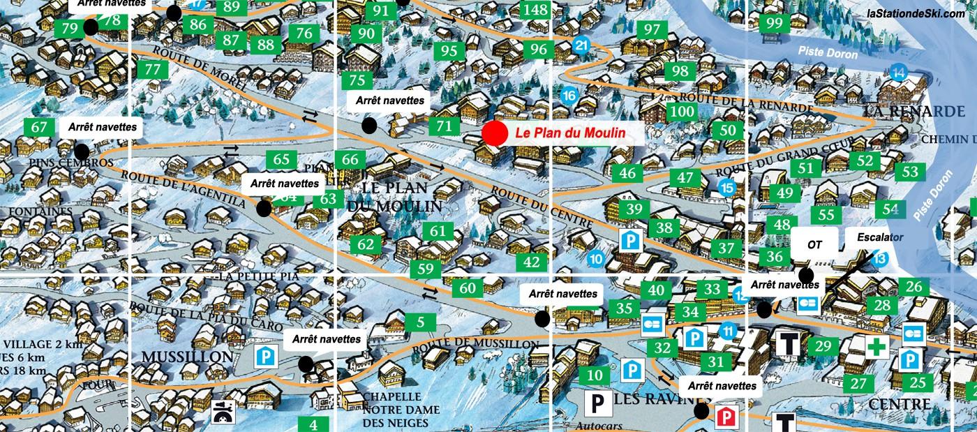 Le plan du moulin m ribel - Office du tourisme de meribel ...