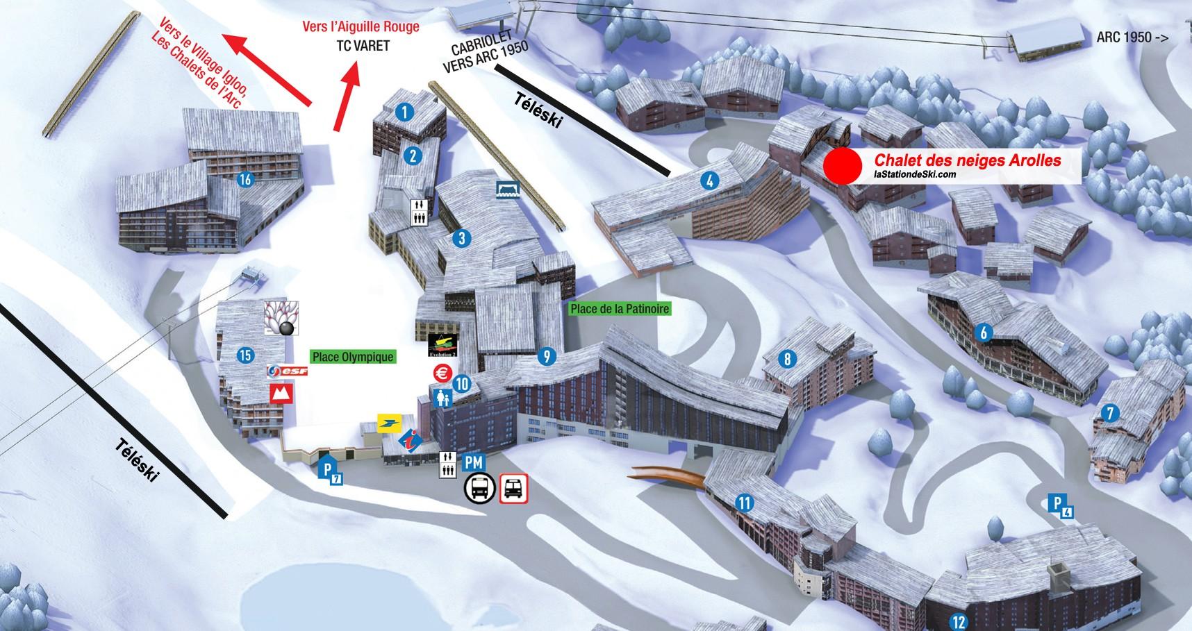 Chalet des neiges Arolles Arc 2000