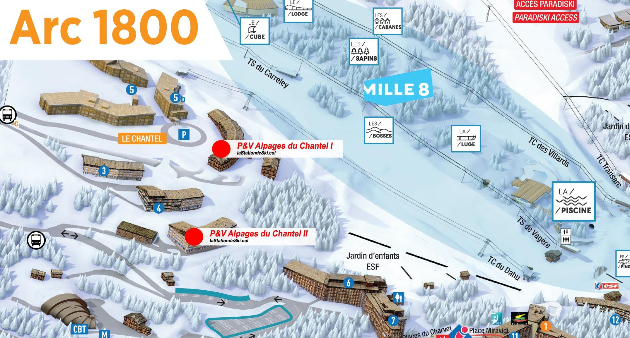 Pierre vacances les alpages de chantel arc 1800 for Piscine arc 1800