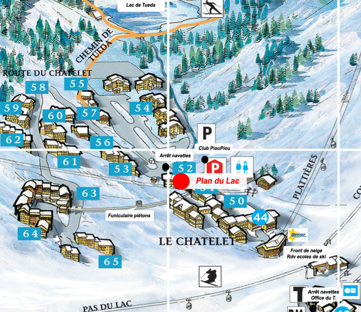 Plan du lac m ribel mottaret for Les plans de lowe