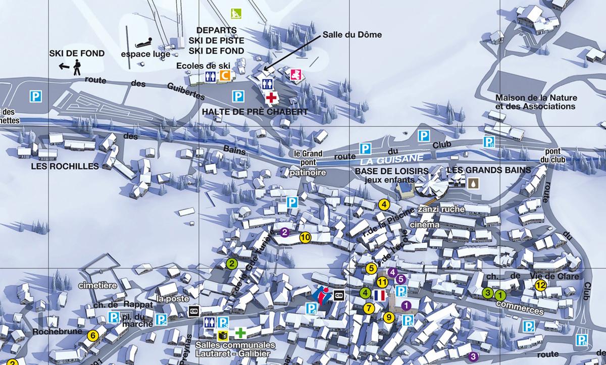 Serre chevalier 1500 le m netier les bains - Office du tourisme la salle les alpes ...